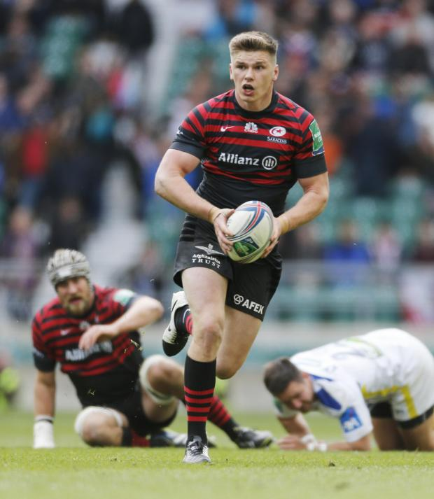 Times Series: Owen Farrell in action against Clermont in the Heineken Cup. Picture: Action Images