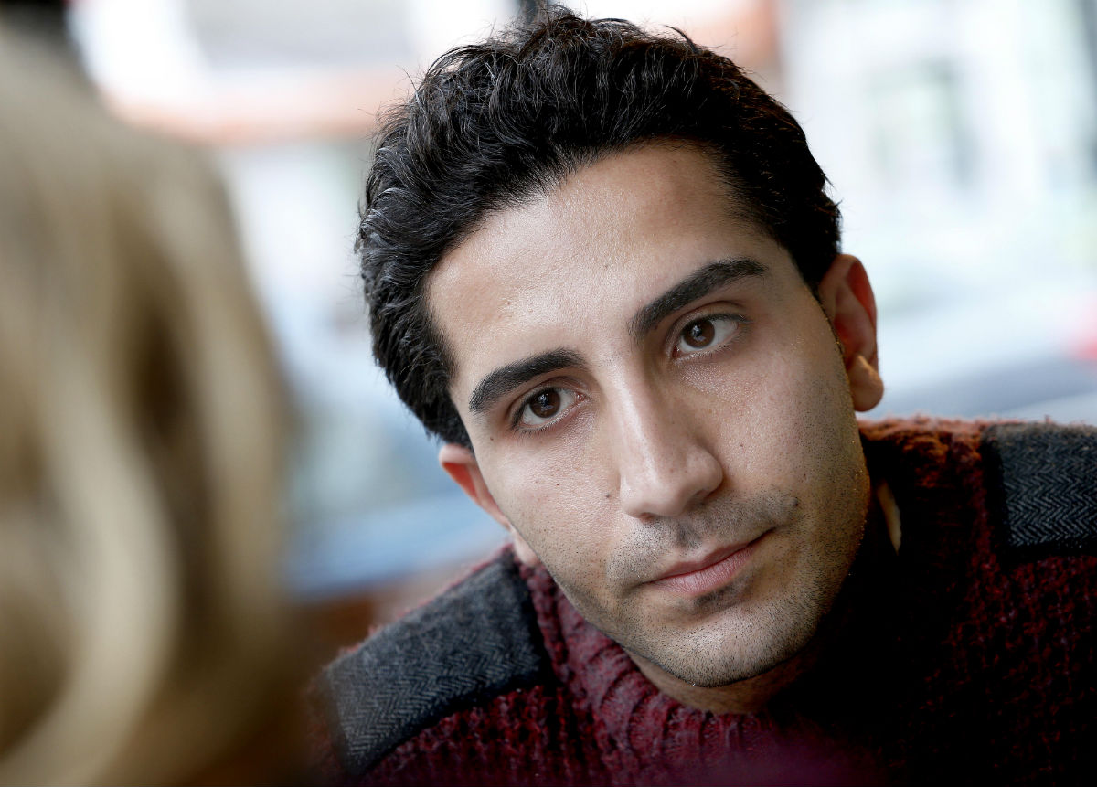 Mohamad Sulimani, a member of the Anglo Iranian Young Artists group in North Finchley.