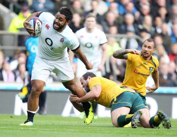 Billy Vunipola in action for England against Australia in November. Picture: Action Images