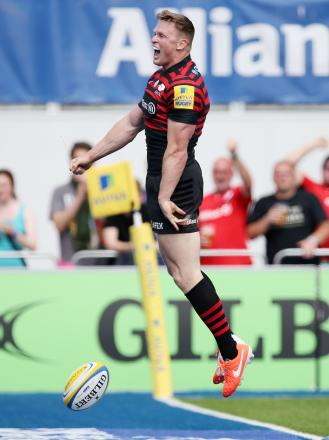 Chris Ashton celebrates his decisive try for Sarries. Picture: Action Images