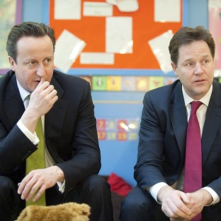 David Cameron says he has a good working relationship with Nick Clegg