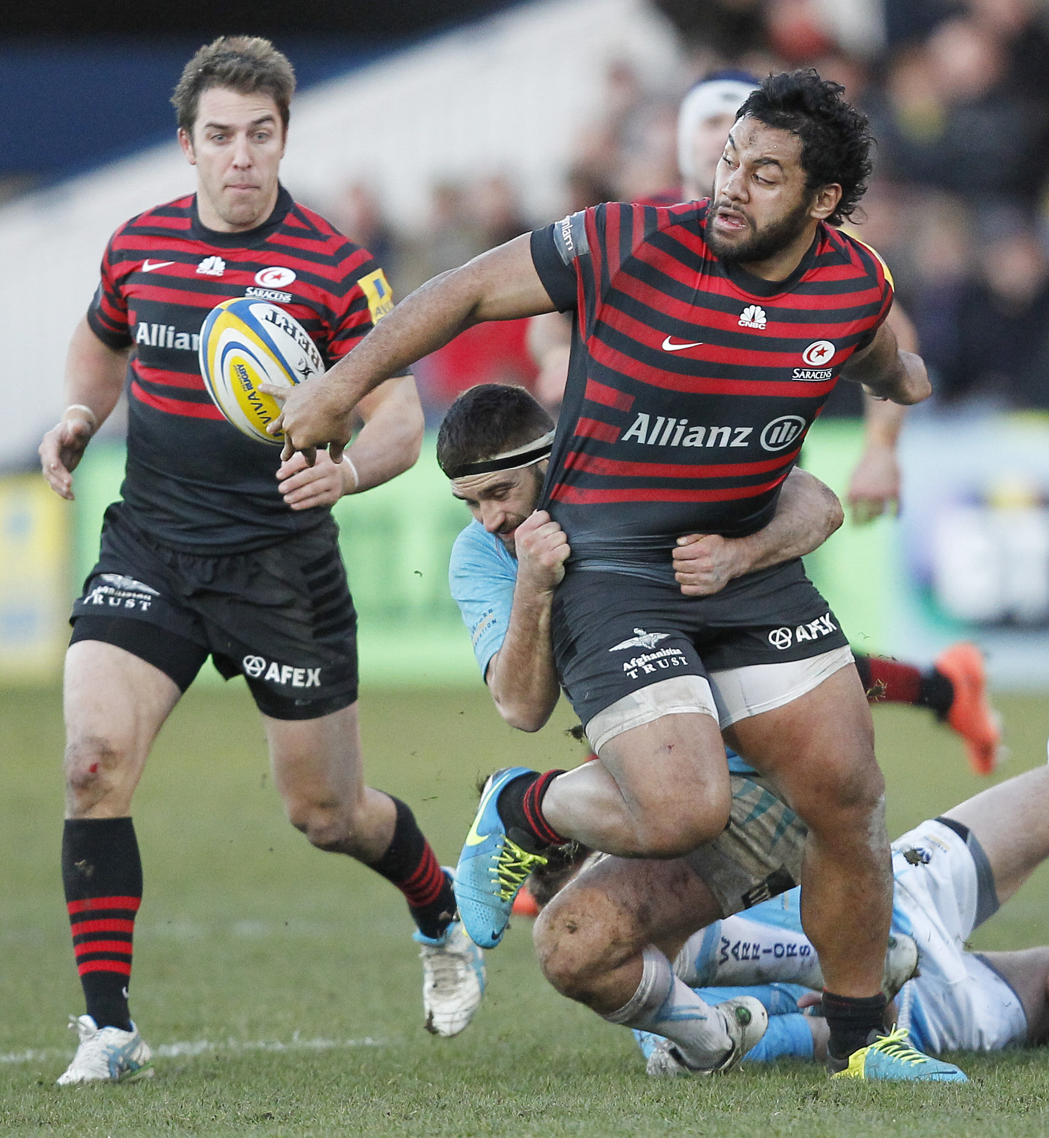 Billy Vunipola in action against Worcester Warriors. Picture: Action Images