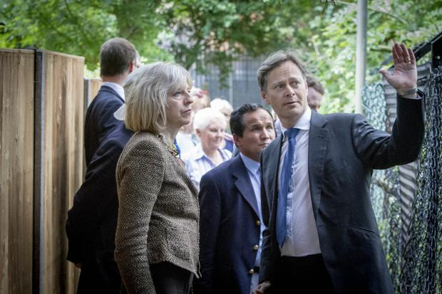 Times Series: MP Matthew Offord shows Theresa May around Burnt Oak