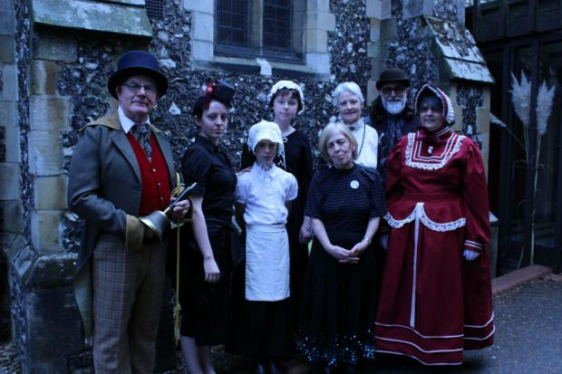 People dressed in Victorian dress to mark the occasion.
