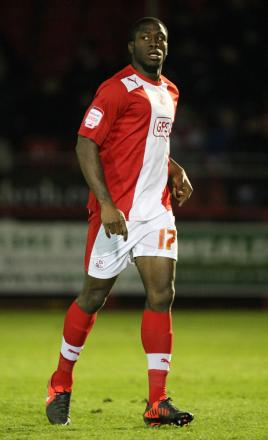 John Akinde in action for Crawley Town. Picture: Action Images