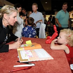 Times Series: Children's author Lauren Child during a book signing