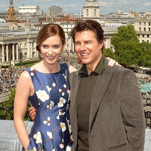Times Series: Emily Blunt and Tom Cruise star in Edge Of Tomorrow.