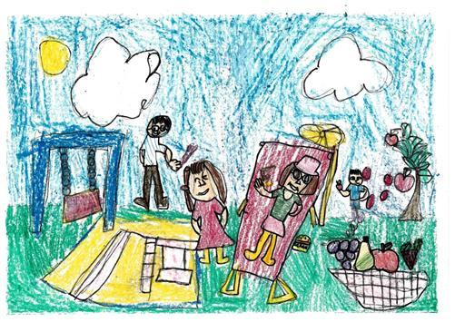 Times Series: Six-year-old wins art contest