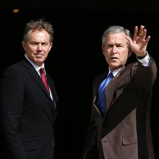 Former Prime Minister Tony Blair, pictured with George Bush, has ducked calls to sanction the release of his exchanges with the former US President in the run-up to the Iraq war.