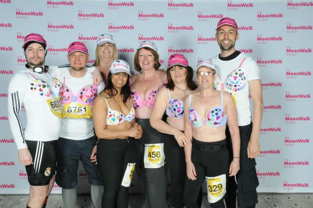 Times Series: BMI The Garden Hospital staff take part in MoonWalk for breast cancer charity Walk the Walk