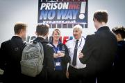 Hertsmere teenagers spent a day in detention yesterday as part of a hard-hitting project to deter them from crime.