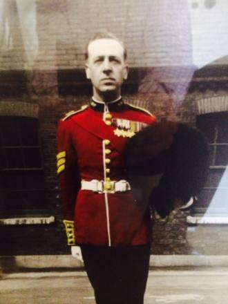 The victim in his Grenadier Guards uniform, wearing some of the medals stolen