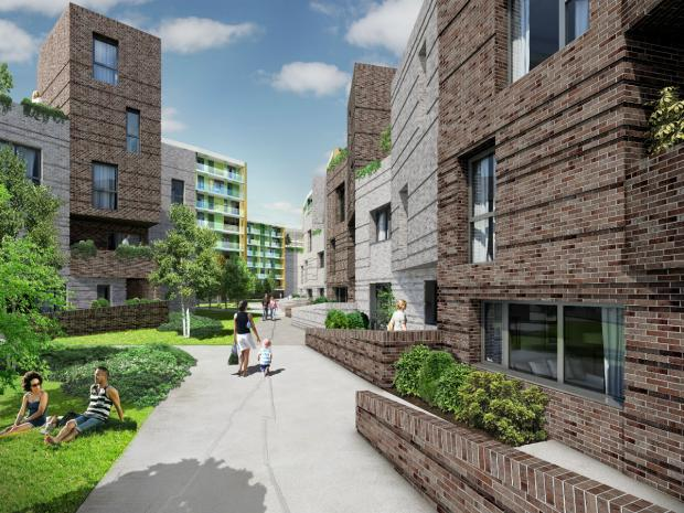 An artist's impression of the new homes which could be built in Hendon.