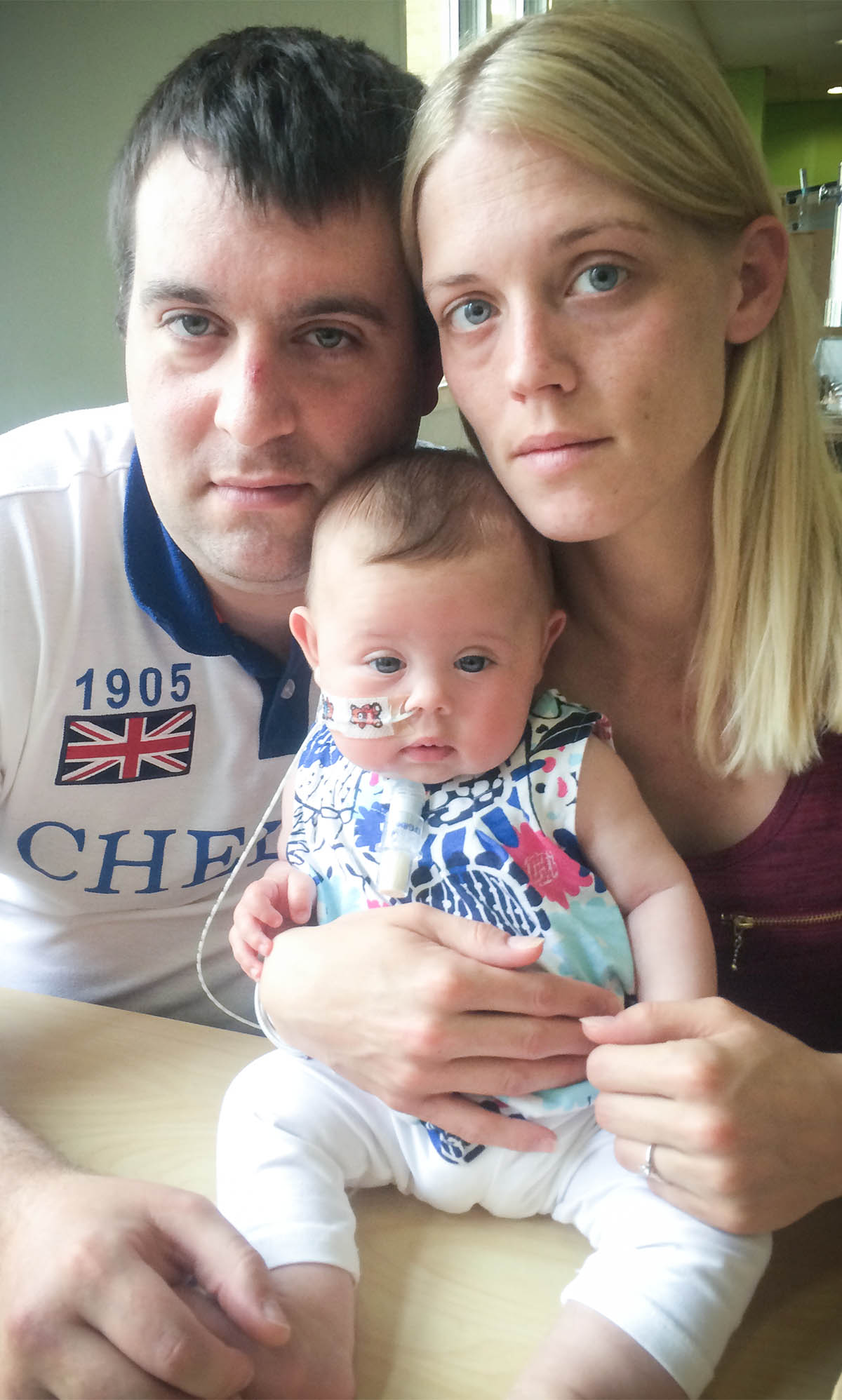 Ricky Clitheroe and Amy Keith with their daughter Poppy.