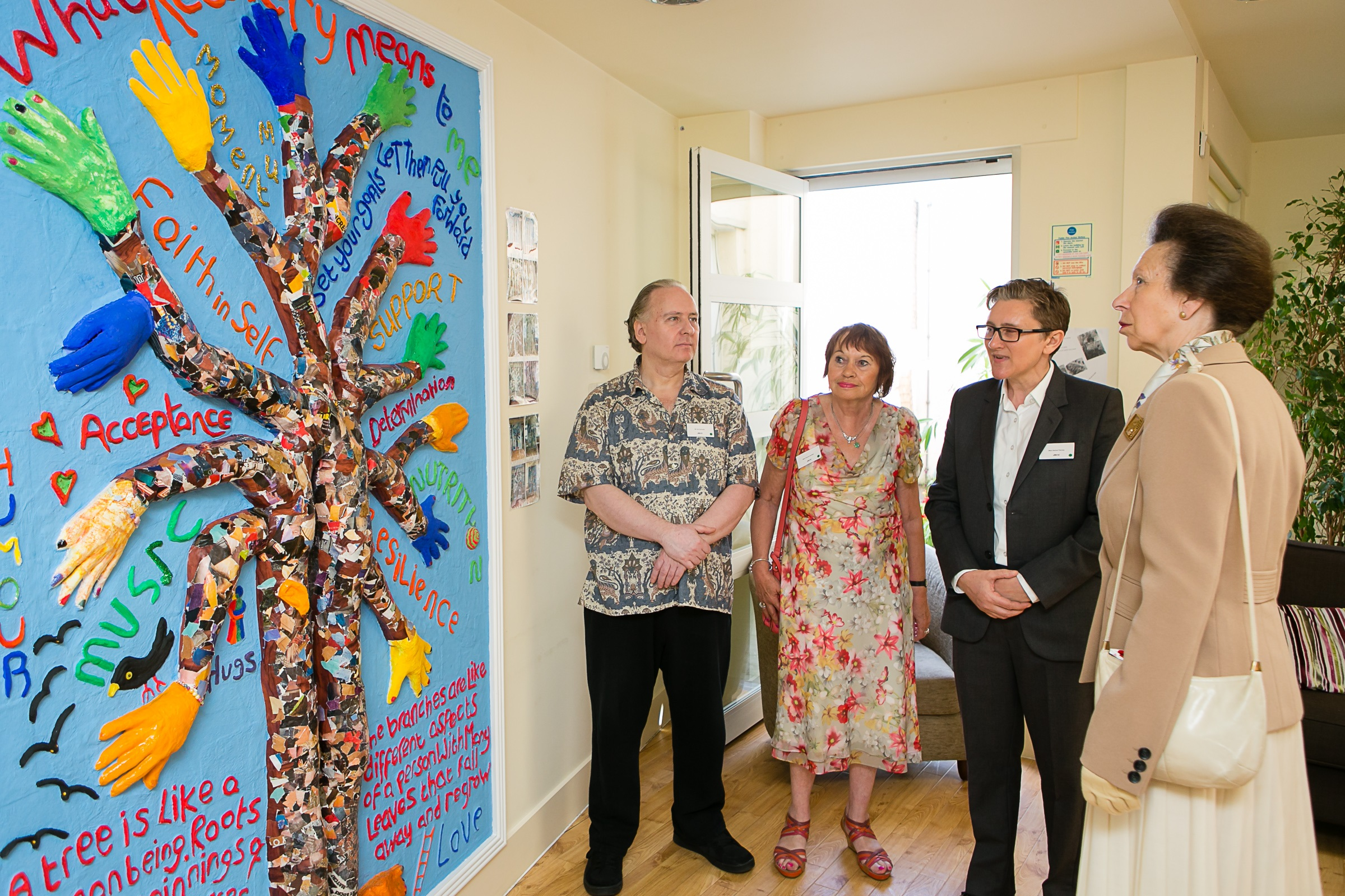 Princess Anne visits mental health charity