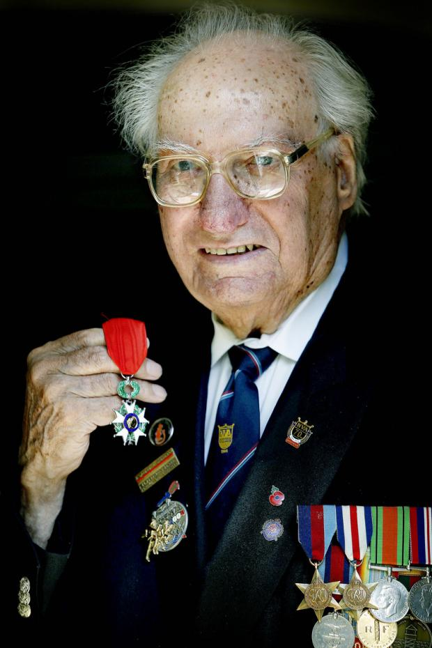 Times Series: Fred Harris, from Featherstone Gardens, was presented with the Legion d'Honneur at a ceremony held in Normandy last week