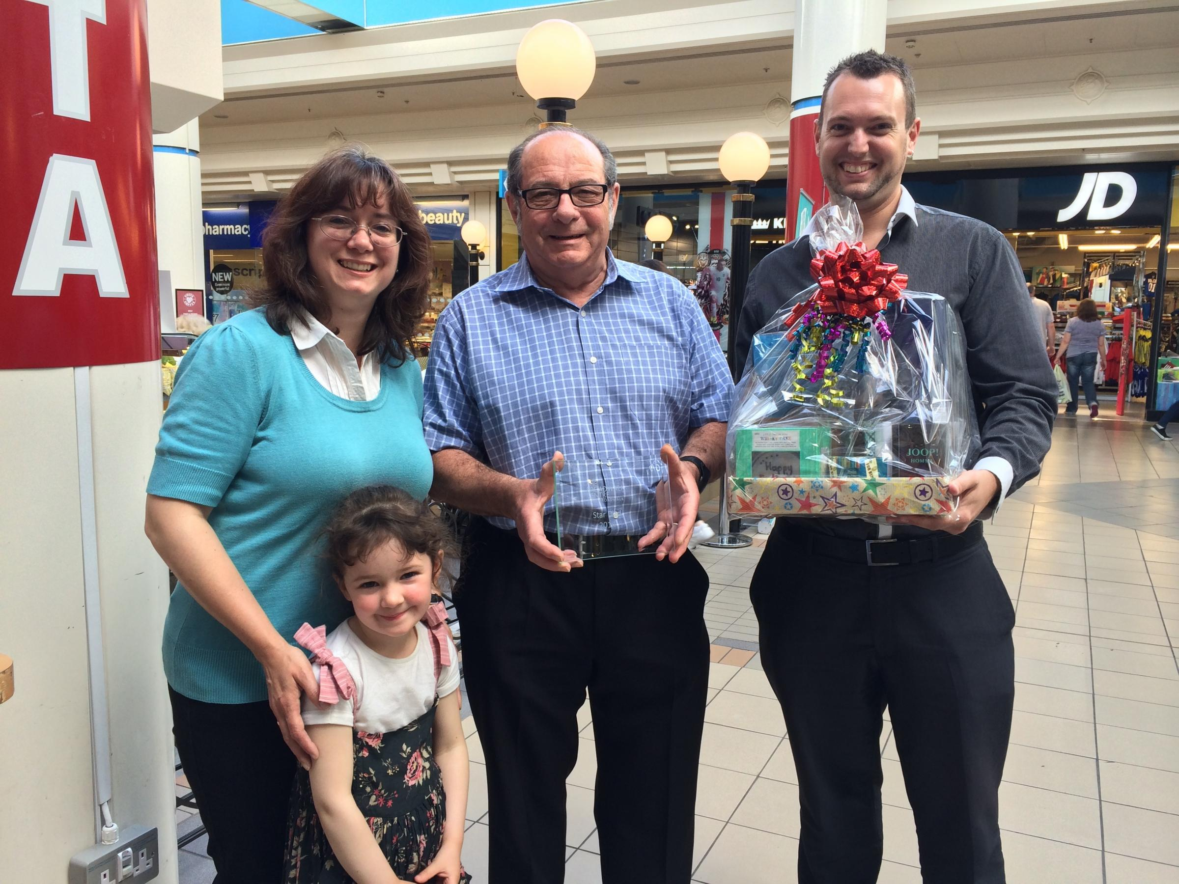 Award for 'brilliant and patient' dad