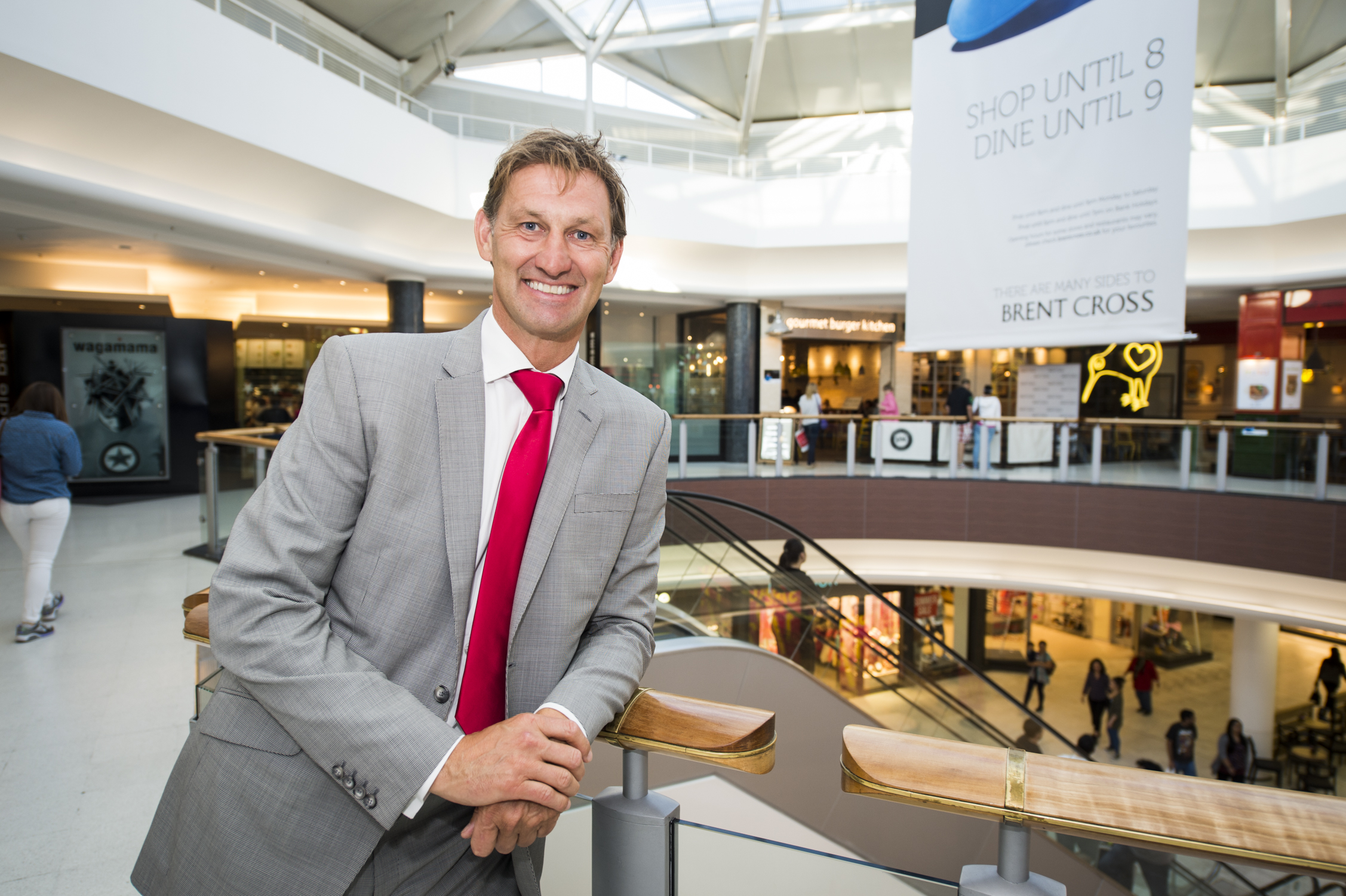Former England and Arsenal captain Tony Adams at Brent Cross