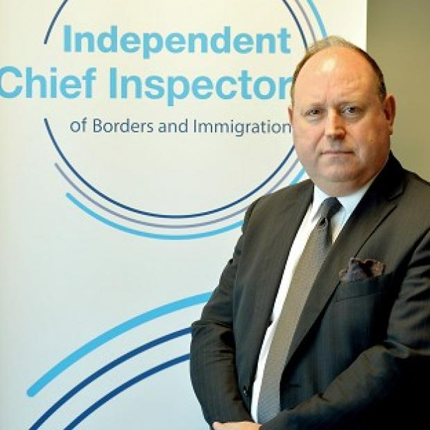 Times Series:  John Vine, the Chief Inspector of Borders and Immigration