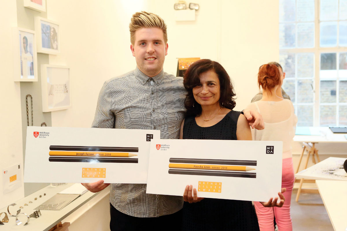 Award winners Joseph Farrow and Paresha Amin