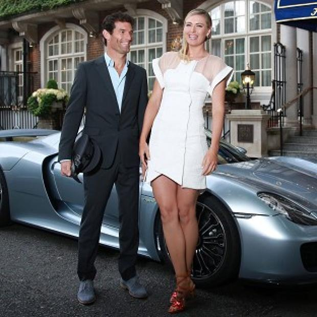 Times Series: Maria Sharapova is picked up by racing driver Mark Webber and driven to the Women's Tennis Association (WTA) Pre-Wimbledon Party