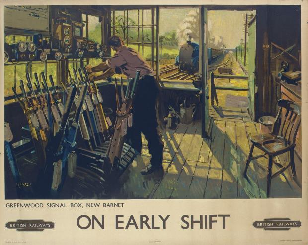 Terence Cuneo's On Early Shift