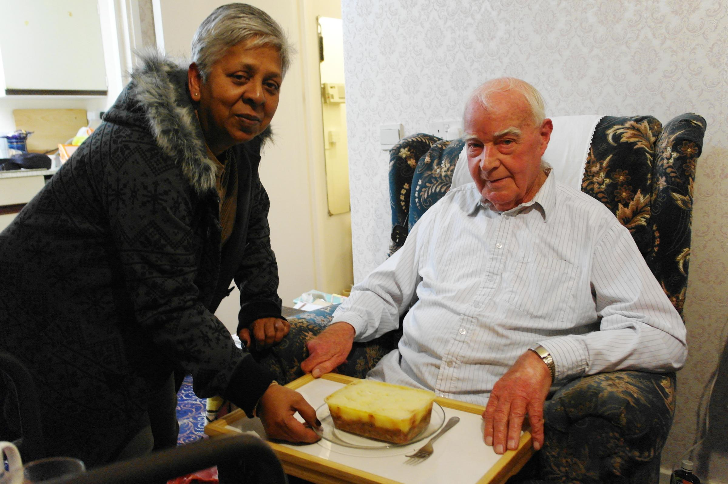 Share an extra portion of food with your elderly neighbour