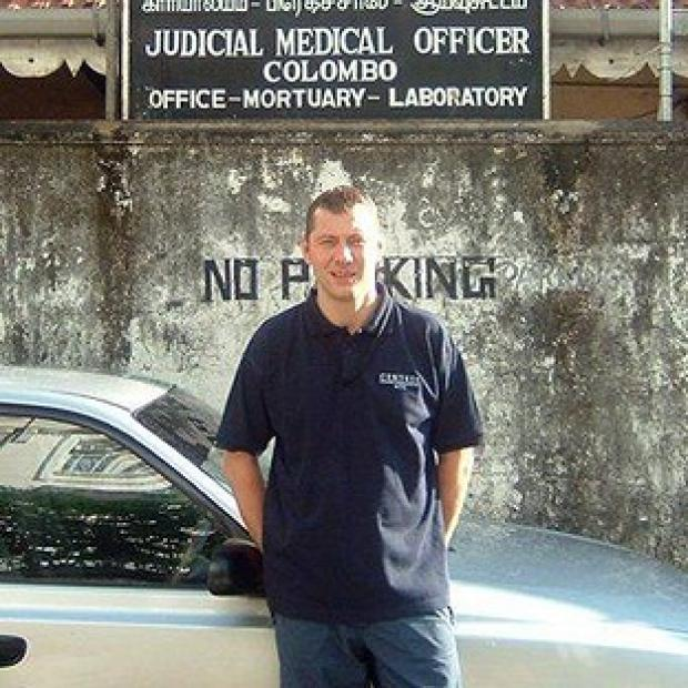 Times Series: Police trainer David Collins, 45, who has won an out-of-court settlement after he suffered post-traumatic stress disorder after working in a mortuary in Sri Lanka following the 2004 Tsunami (Irwin Mitchell)