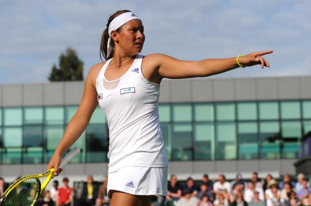 Times Series: Tara Moore has never got beyond the first round at Wimbledon. Picture: Action Images