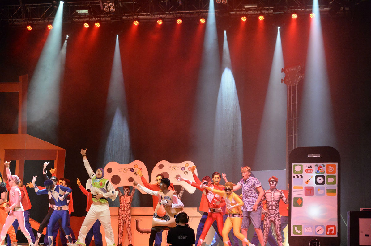Finchley Catholic High School students rock-out in the UK Rock Challenge