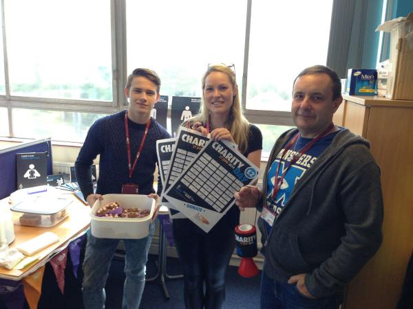 UK Power Networks' James Marriott, Connie Dickie and Mark Edwards get involved in the fund-raising for Prostate Cancer UK