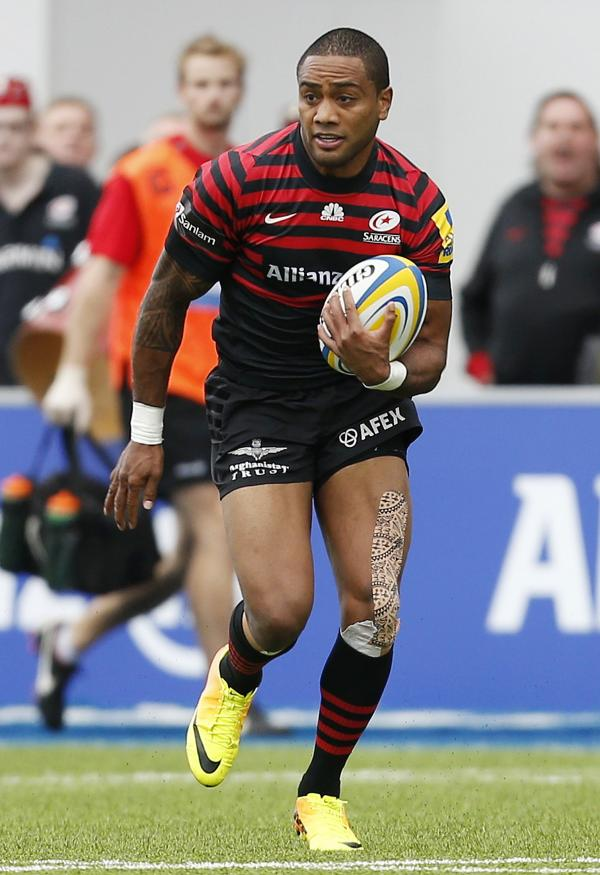 Michael Tagicakibau carries the ball forward for Sarries. Picture: Action Images