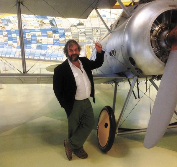 Sir Peter Jackson at the RAF Museum