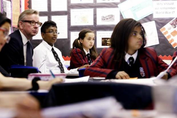 Times Series: Michael Gove sits in on a religious studies lesson
