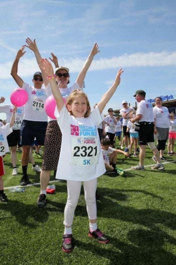 Times Series: Ruby Weissbart, age seven, warming up for the fun run