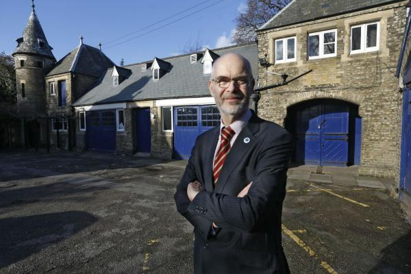 Trust chairman Andy Savage outside the estate's stable block, which will be converted into a café