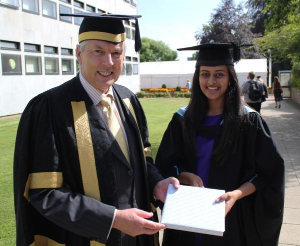 Roshni with Professor Don Nutbeam
