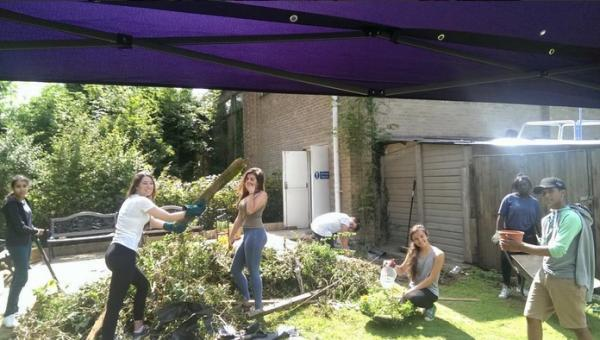 Projects included revitalising a run-down community garden at the Elm Court Youth Centre in Potters Bar.