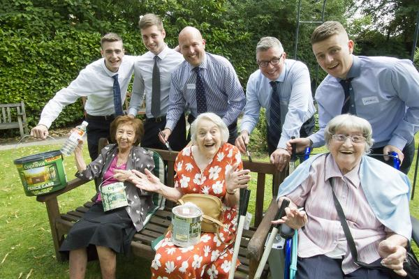 Estate agents lend a hand at care home
