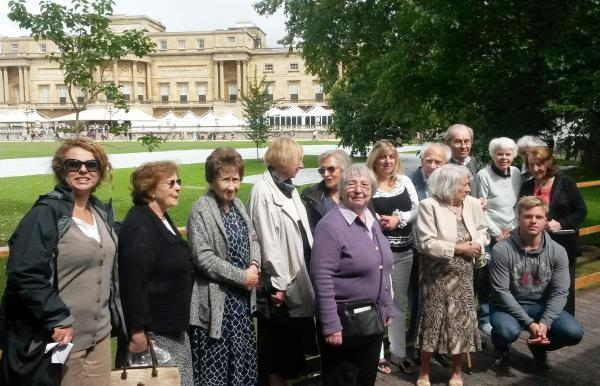The Holocaust survivors at Buckingham Palace
