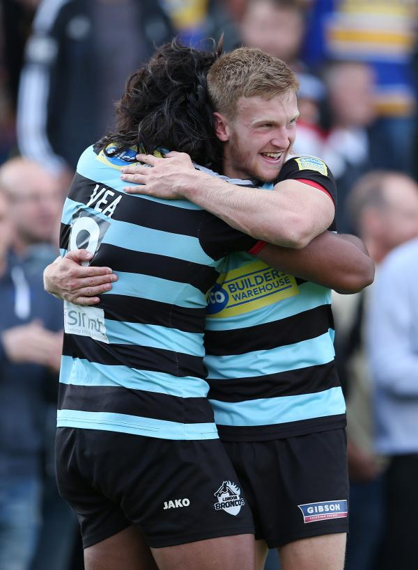 Atelea Vea (left) and Joe Keyes (right) celebrate. Picture: Action Images