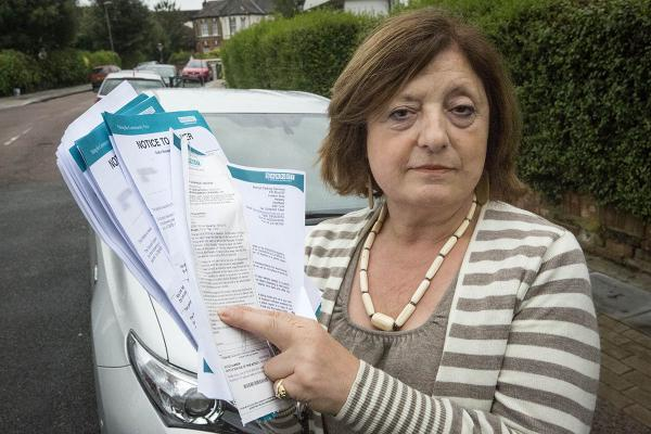 Grandmother ordered to pay £1,365 in parking fines - even though her car was stolen