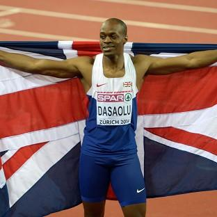 James Dasaolu clocked 10.06 seconds to come third in the 100