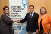 Police and Crime Commissioner meets Watford Rape Crisis, who received funding through the community fund scheme.