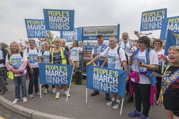 Campaigners march through Barnet