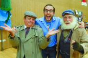 Jacob White with Del Boy and Uncle Albert impersonators at the convention