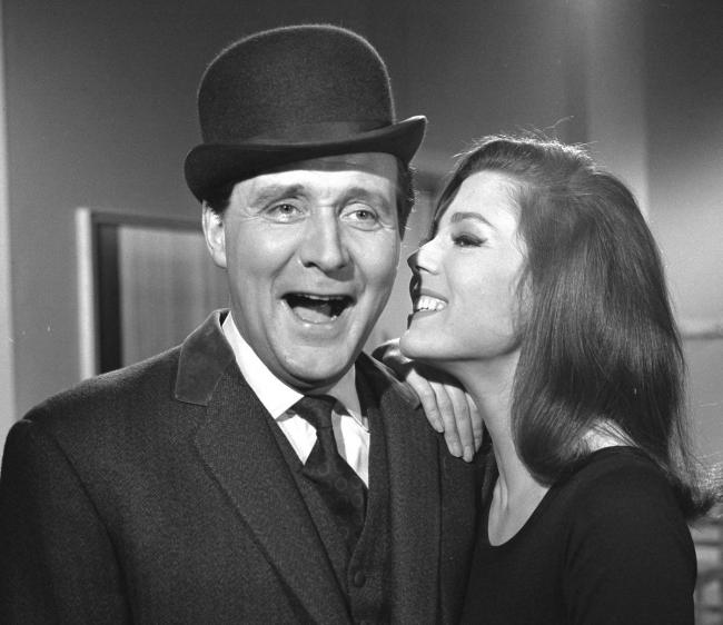The chemistry between Patrick Macnee and Diana Rigg is clear