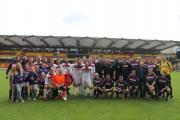 The teams raised £5,000 for charities