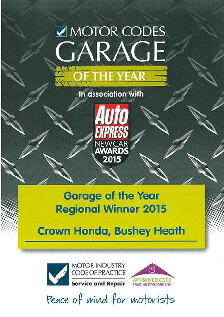 Local car dealership voted best garage in East of England
