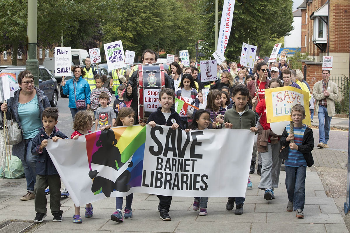 Cuts to the borough's libraries have caused a fierce backlash across Barnet
